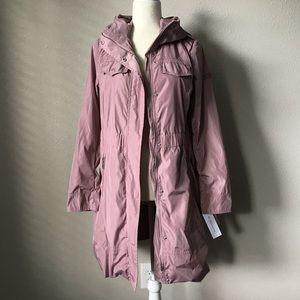 BCBGeneration Mauve Trench Coat Raincoat NWT
